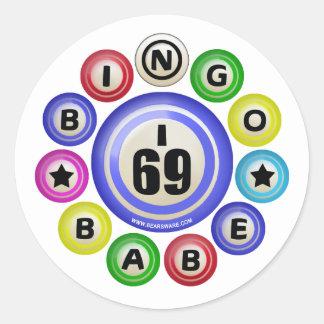 I69 Bingo Babe Classic Round Sticker