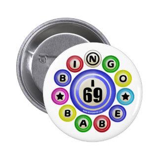 I69 Bingo Babe Pinback Button