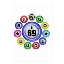 I69 Bingo Dude Business Card Template