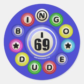 I69 Bingo Dude Classic Round Sticker