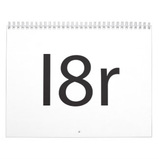 I8r Wall Calendar