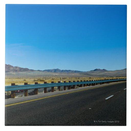 I-15 carretera, Los Ángeles a Las Vegas Azulejo Cuadrado Grande
