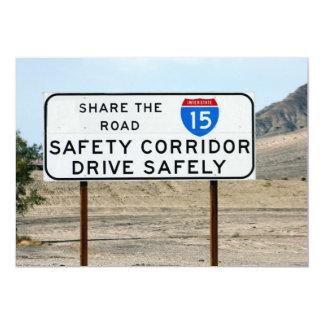 I-15 Safety Corridor 5x7 Paper Invitation Card