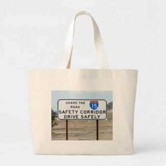I-15 Safety Corridor Jumbo Tote Bag