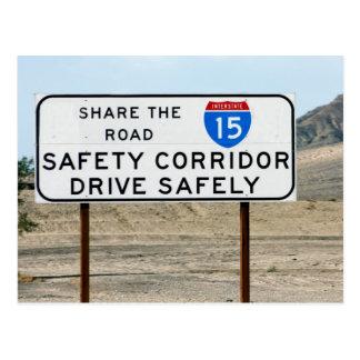 I-15 Safety Corridor Postcard