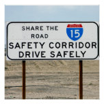 I-15 Safety Corridor Poster
