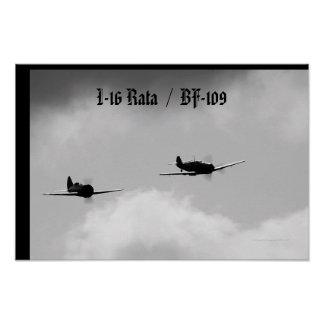 I-16 and Bf-109 Poster