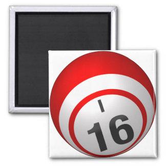 I 16 bingo ball magnet