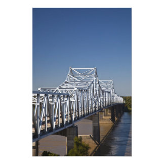 I-20 Highway bridge across Mississippi River, Photo Print