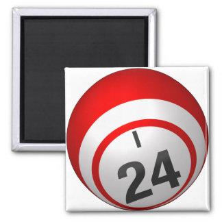 I 24 imanes de la bola del bingo imán cuadrado