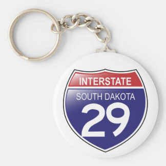 I-29 South Dakota Keychain