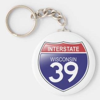 I-39 Wisconsin Keychain