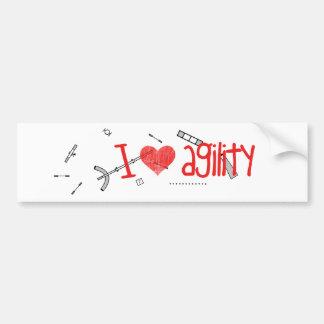 I <3 Agility Sticker Car Bumper Sticker