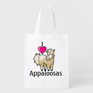 I <3 Appaloosas Reusable Grocery Bags