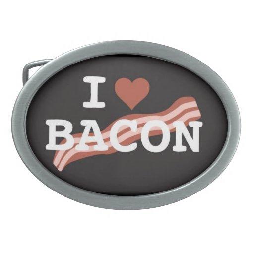 i <3 bacon belt buckle