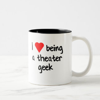 I <3 Being a Theater Geek Two-Tone Coffee Mug