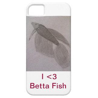 'I <3 Betta Fish' iPhone 5 Case-magenta iPhone SE/5/5s Case