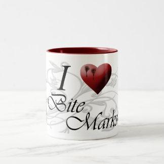 I <3 Bite Marks Two-Tone Coffee Mug
