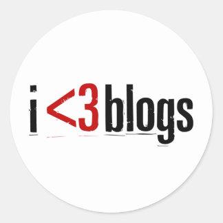 """I <3 Blogs"" sticker"