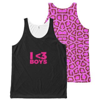 I <3  Boys  Cheetah UNISEX Tank Top All-Over Print Tank Top