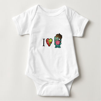 I <3 Brains- Zombies Are Everywhere! Baby Bodysuit