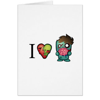I <3 Brains- Zombies Are Everywhere! Card