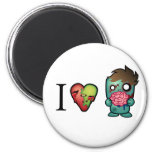 I <3 Brains- Zombies Are Everywhere! Magnets