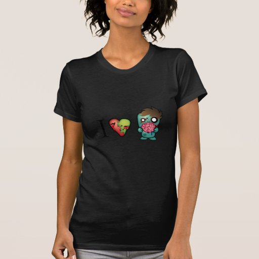 I <3 Brains- Zombies Are Everywhere! Tshirts
