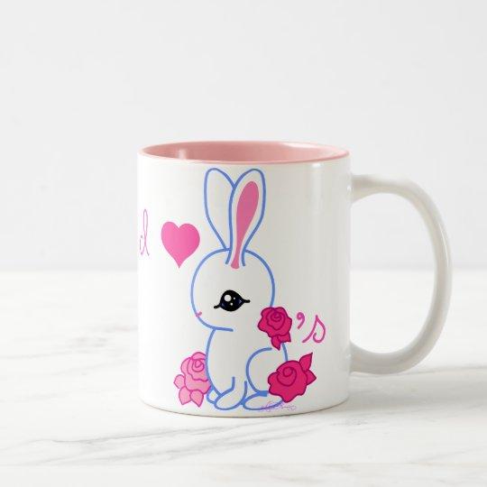 """""""I <3 bunnies"""" pet rabbit Collector Mug"""