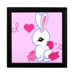 """I <3 bunnies"" pet rabbit Jewelry Box"