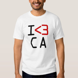 I <3 CA T-SHIRT