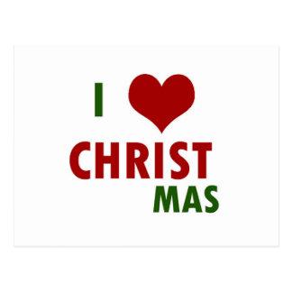 I <3 CHRISTmas Postcard