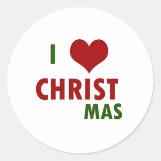 I <3 CHRISTmas Round Sticker