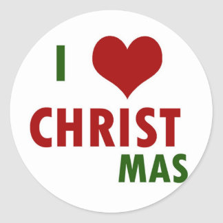 I <3 CHRISTmas Stickers