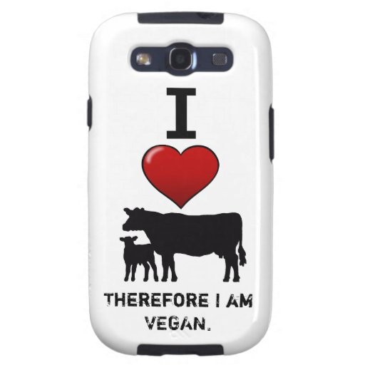 I <3 cow/calf animal rights design by Marlaina Samsung Galaxy S3 Case