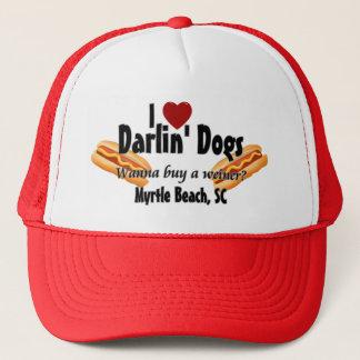 I <3 Darlin Dogs - Wanna buy a weiner? Trucker Hat
