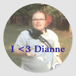 I <3 Dianne Pegatina Redonda