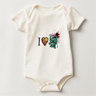 I <3 doubletaps- Zombies are everywhere Baby Bodysuit