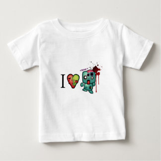 I <3 doubletaps- Zombies are everywhere Baby T-Shirt