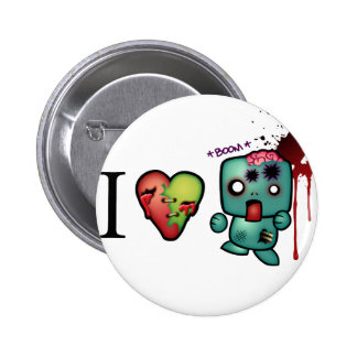 I <3 doubletaps- Zombies are everywhere Button