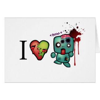 I <3 doubletaps- Zombies are everywhere Card
