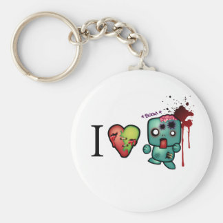I <3 doubletaps- Zombies are everywhere Keychain