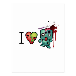 I <3 doubletaps- Zombies are everywhere Postcard