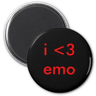 i <3 emo 2 inch round magnet