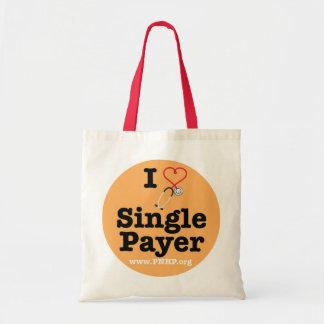 I <3 escoge el tote del pagador bolsas lienzo
