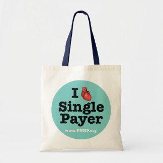 I <3 escoge el tote del pagador bolsa tela barata