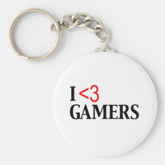 I <3 Gamers Keychains