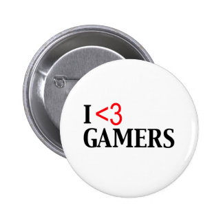I <3 Gamers Pin