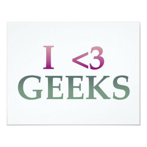I <3 Geeks Card