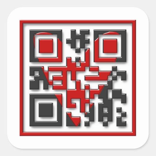 I <3 Geeks Square Sticker